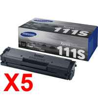 5 x Genuine Samsung SL-M2020 SL-M2020W SL-M2070 SL-M2070FW Toner Cartridge MLT-D111S SU812A