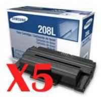5 x Genuine Samsung SCX-5635 SCX-5835 Toner Cartridge MLT-D208L