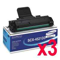 3 x Genuine Samsung SCX-4521 SCX-4521F Toner Cartridge SCX-4521D3