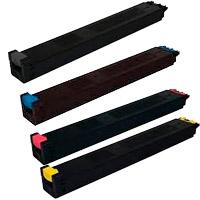 4 Pack Compatible Sharp MX31GTBA MX31GTCA MX31GTMA MX31GTYA Toner Cartridge Set