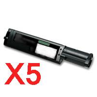 5 x Compatible Fuji Xerox DocuPrint C525A Black Toner Cartridge CT200649
