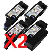 2 Lots of 4 Pack Compatible Fuji Xerox DocuPrint CP105B CP205 CP205W CM205B CM205FW Toner Cartridge Set