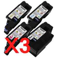 3 Lots of 4 Pack Compatible Fuji Xerox DocuPrint CP105B CP205 CP205W CM205B CM205FW Toner Cartridge Set