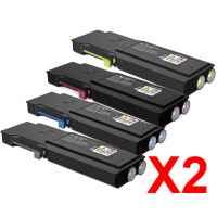 2 Lots of 4 Pack Compatible Fuji Xerox DocuPrint CP405d CM405df Toner Cartridge Set