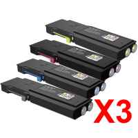 3 Lots of 4 Pack Compatible Fuji Xerox DocuPrint CM415 CM415AP Toner Cartridge Set