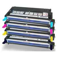 4 Pack Compatible Fuji Xerox DocuPrint C2100 C3210 Toner Cartridge Set
