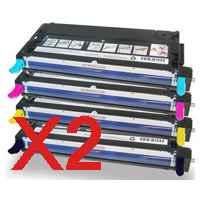 2 Lots of 4 Pack Compatible Fuji Xerox DocuPrint C2200 C3300DX C3300 Toner Cartridge Set High Yield