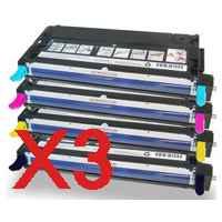 3 Lots of 4 Pack Compatible Fuji Xerox DocuPrint C2200 C3300DX C3300 Toner Cartridge Set High Yield