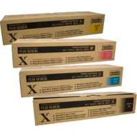 4 Pack Genuine Fuji Xerox DocuColour 5065 6075 Toner Cartridge Set