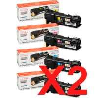 2 Lots of 4 Pack Genuine Fuji Xerox DocuPrint C1110 Toner Cartridge Set