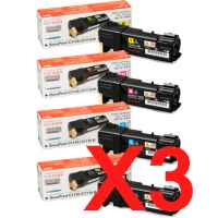 3 Lots of 4 Pack Genuine Fuji Xerox DocuPrint C1110 Toner Cartridge Set